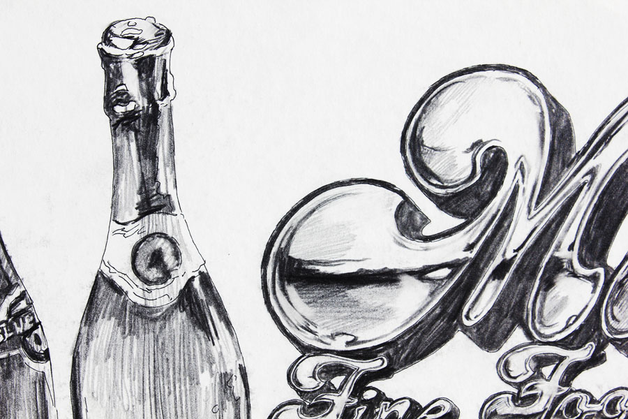 Tom Mallon: Branded Artwork Incorporated with Logo, Pencil ...